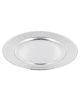 plates 310 g/m2 Ø23 cm silver cardboard (250 unit)