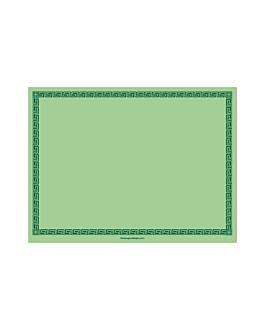 sets de table 60 g/m2 30x40 cm vert pomme dry tissue (800 unitÉ)
