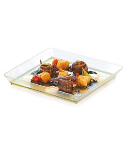 trays 13x13x1,6 cm sea green ps (100 unit)