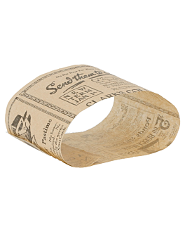 kraft straps for sandwiches 'times' 34 gsm 7x26 cm natural greaseproof parch. (5000 unit)