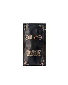 saquetas creme de barbear 'allure' 5 ml 8x4,5 cm preto pet (2000 unidade)