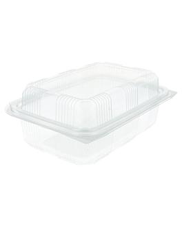 confectionery containers + lid 1 l 14,2x20,7x7,8 cm clear pet (400 unit)