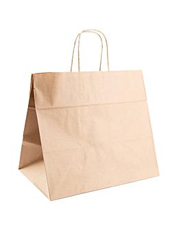 sacos sos catering com asas 90 g/m2 32+21x28,5 cm natural kraft (250 unidade)