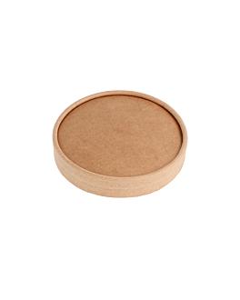 coperchio per insalatiera per codice 212.97 300 + 18 pe g/m2 Ø18,4 cm marrone kraft (300 unitÀ)