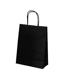 bolsas sos unicolor 80 g/m2 20+10x29 cm negro kraft (250 unid.)
