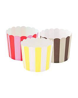 muffin cups Ø 6x5 cm assorted cardboard (2400 unit)