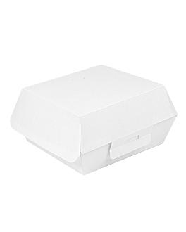 conchas hamburguesa 'thepack' 230 g/m2 13x12,5x6,2 cm blanco cartÓn ondulado nano-micro (450 unid.)