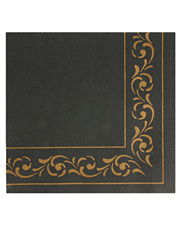 ecolabel napkins 'double point - troya' 18 gsm 40x40 cm black tissue (1200 unit)