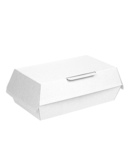lunch box 'thepack' 230 gsm 19,5x11,5x6,5 cm white nano-micro corrugated cardboard (300 unit)