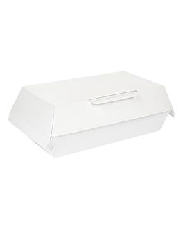 "boÎtes ""lunch box"" 'thepack' 230 g/m2 19,5x11,5x6,5 cm blanc carton ondulÉ nano-micro (300 unitÉ)"