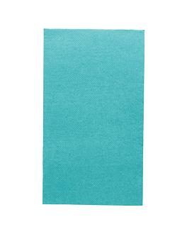 servilletas ecolabel p. 1/6 'double point' 18 g/m2 33x40 cm azul turquesa tissue (2000 unid.)