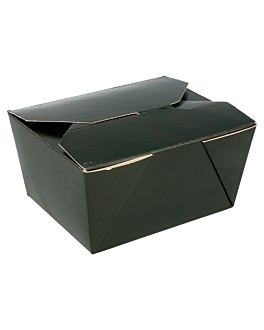 micro. boxes rectangular 780 ml 275 gsm+pp 11,2x9x6,4 cm black cardboard (50 unit)