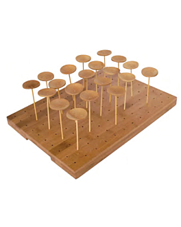 bandeja para 120 picks 25x30x1,3 cm natural bambÚ (1 unid.)