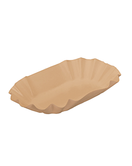 tablett oval 14x9x3 cm natur kraft (2000 einheit)