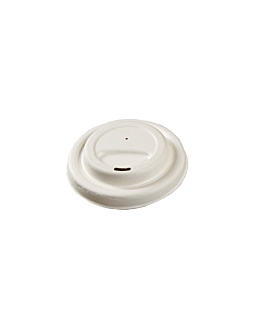 lids for coffee cups 360/480 ml 'bionic' Ø 94 mm white bagasse (1000 unit)