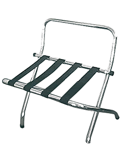 luggage rack with back 62x50x69 cm chroming steel (1 unit)