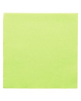 serviettes ecolabel 'double point' 18 g/m2 33x33 cm vert anis ouate (1200 unitÉ)