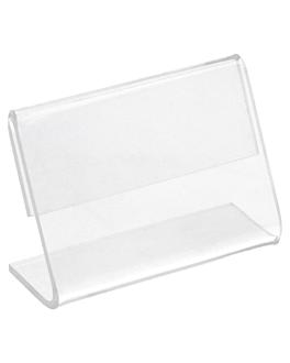 10 u. chevalets pour Étiquettes 6x4x2,5 cm transparent pvc (1 unitÉ)