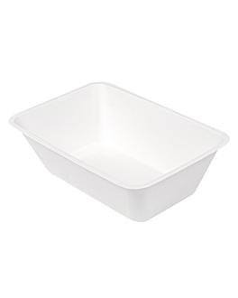 containers 'bionic' 1000 ml 20,3x13,6x6,8 cm white bagasse (500 unit)