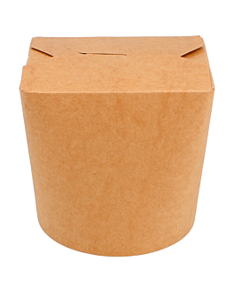 microwavable multi-purpose containers 780 ml 275 + 25 pe gsm Ø9x9 cm natural kraft (50 unit)