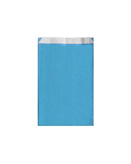 bolsas planas unicolor 60 g/m2 12+5x18 cm azul turquesa celulosa (250 unid.)