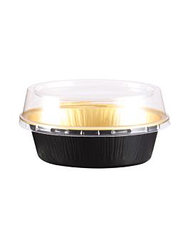 bakery containers 85 ml 9,7 x6,6x3 cm gold/black aluminium (100 unit)