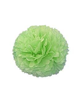 pom pom flower Ø 35 cm verde (10 unid.)