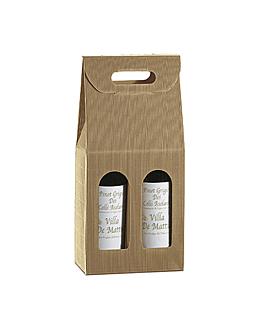 30 u. cajas 2 botellas 18x9x34 cm natural kraft (1 unid.)
