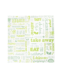 basket wrapping paper 'parole' 32 gsm 31x31 cm green greaseproof parch. (4000 unit)