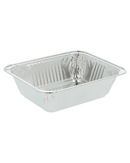 recipientes rectangulares 260 ml 12,4x10x3,5 cm aluminio (2400 unid.)
