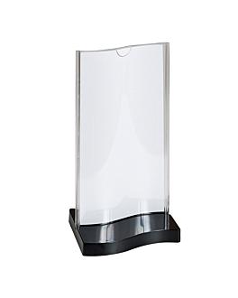porta menÚs pie rectangular 10x20 cm transparente ps (45 unid.)