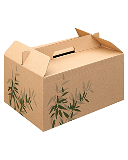 cases for take away meals 'feel green' 28x20x15 cm brown cardboard (100 unit)