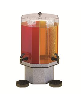 distributore de succhi doppio 2x9,5 l 55 (h) cm trasparente acrilico (1 unitÀ)