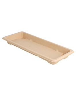 sushi boxes 'bionic' 22x9x2 cm natural bagasse (800 unit)