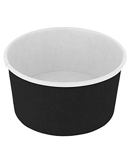 ice-cream tubs 150 ml 250 + 18pe gsm Ø 8,5x4,5 cm black cardboard (2000 unit)