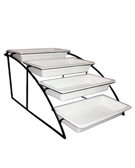 suporte 4 piani contenitori gn 1/3 36 cm nero ferro (1 unitÀ)