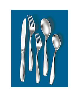 """couteaux de table """"linea 2071"""" 23,2 cm/ 90 g. metal inox 18% (12 unitÉ)"""