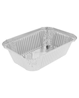 recipientes rectangulares 900 ml 20,2x13,7x5 cm aluminio (100 unid.)