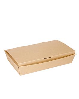 "boÎtes ""lunch box"" couvercles 'thepack' 220 g/m2 27,5x16,5x5 cm naturel carton ondulÉ nano-micro (240 unitÉ)"