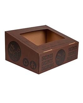 tapa orgÁnico 38,4x31,1x12 cm marrÓn cartÓn (10 unid.)