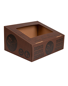 organic lid 38,4x31,1x12 cm brown cardboard (10 unit)