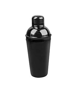 coctelera cobbler 500 ml Ø 8,8x21,5 cm negro inox (1 unid.)
