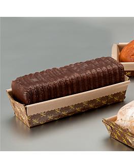 laminated baking molds 20x6,5x4,5 cm brown paper (500 unit)