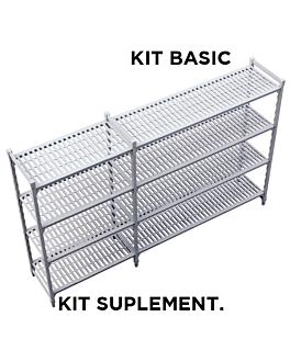 supplementary shelf windshelving 61x91x180 cm grey steel (1 unit)