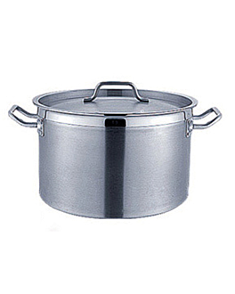 stew pot with lid 22 l Ø 38,4x24,7 cm silver stainless steel (1 unit)