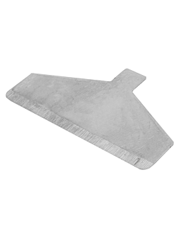 couteaux racleur grill pour rÉfÉrence 224.41 12,8x7,7 cm argente acier (1 unitÉ)