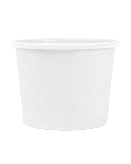 pequeÑas tarrinas 60 ml 210 + 18 pe g/m2 Ø6,15/4,75x4,8 cm blanco cartoncillo (1000 unid.)