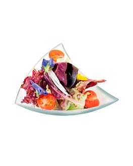 pratos triangulares para aperitivos 12,5x12x2 cm verde Água ps (576 unidade)