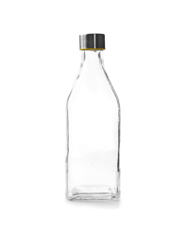 bottle + steel stopper 1 l Ø 8,8x25,8 cm clear glass (12 unit)