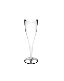 injected champagne flutes 100 ml clear cristal ps (180 unit)